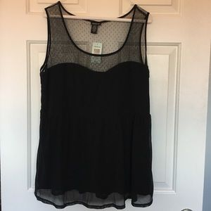 Women's sheer lace top